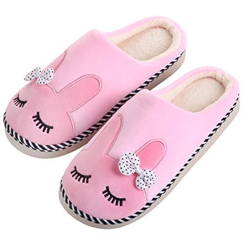 Katara - Zapatillas de Felpa de Conejo *Gran selección* Zapatillas de Animales para niños y niñas, Talla EU 36/37, Etiqueta CN 38/39, Rosa