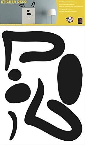 PLAGE decoratieve muursticker 48x68 cm hond boven de deur, vinyl, zwart, 68 x 0,1 x 47,7 cm