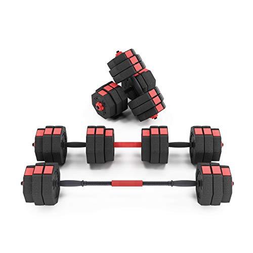 Soges 66 Pounds Adjustable Dumbbells-Pair, Iron Sand Mixture Octagonal Designed, Anti Rolling Fitness Dumbbells,HSYL001-30-N-CA