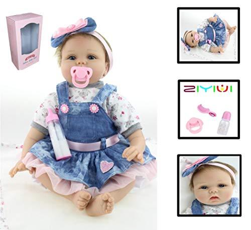 ZIYIUI Muñeca Reborn Bebé Reborn Niños Suave Silicona Vinilo Realista Reborn Baby Doll Niño Magnetismo Juguetes Bebes munecos Reborn Reales Silicona Bebe (2)