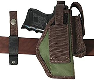 Barsony New Woodland Green Ambidextrous 360Carry 8 Option Holster w/Mag Pouch for Compact 9mm 40 45