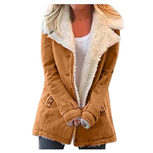 Damen Hoodie Oversize Winter Mantel Damen Warm Große Größen Composite PlushButton Revers Lose Winter Jacke Damen Kurz Outwear Mantel Damen Teenager Mädchen Kleidung