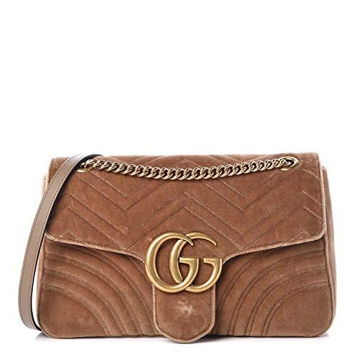 Gucci Baby Light Marmont Pink Velvet Handbag Bag New