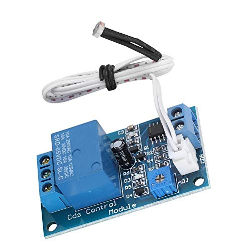 fosa Photosensitive Resistor Module for BESTEP XH-M131, Diode Protection Light Control Switch Relay Module with Precision Adjustable Potentiometer(12V)