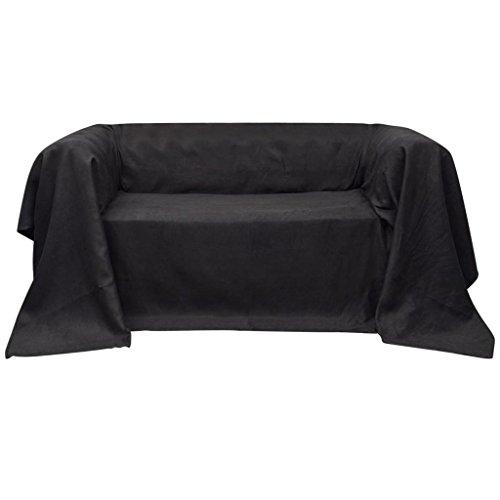 vidaXL Tagesdecke Anthrazit 140x210cm Sofaüberwurf Plaid Sofa Couch Decke