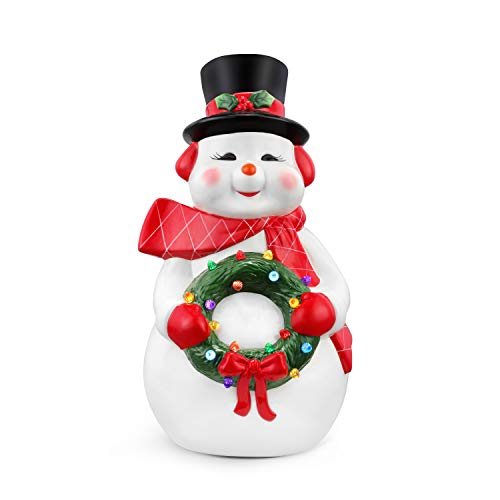 Mr. Christmas Oversized Ceramic Figures 22' - Snowman Christmas Décor, White
