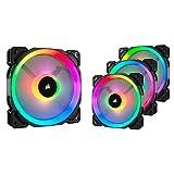 Corsair LL120 RGB Ventola da 120 mm, Dual Light Loop RGB LED PWM, Confezione Singola + Ventola da 120 mm, Dual Light Loop RGB LED PWM, Confezione Tripla con Lighting Node PRO