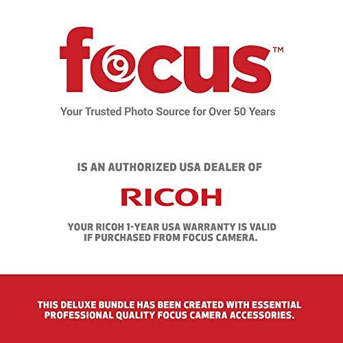 Ricoh Theta V 360-Degree Spherical 4K HD Digital Camera Selfie Stick, Video Editing Software Bundle