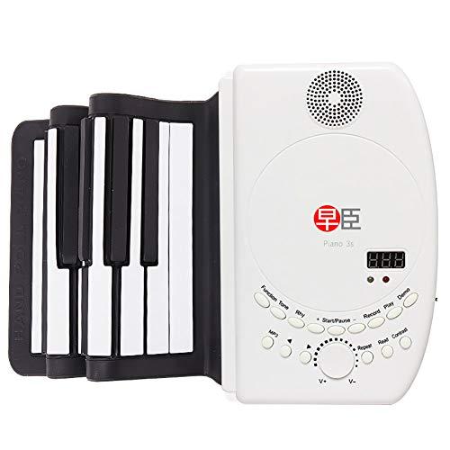 ClothHouse 88 Keys 1: 1 A Dimensione Intera Roll Up Piano con Controller Midi E Altoparlante Forte, Portatile Impermeabile Flessibile Tastiera, Completamente Portatile, Alimentato A Batteria O USB