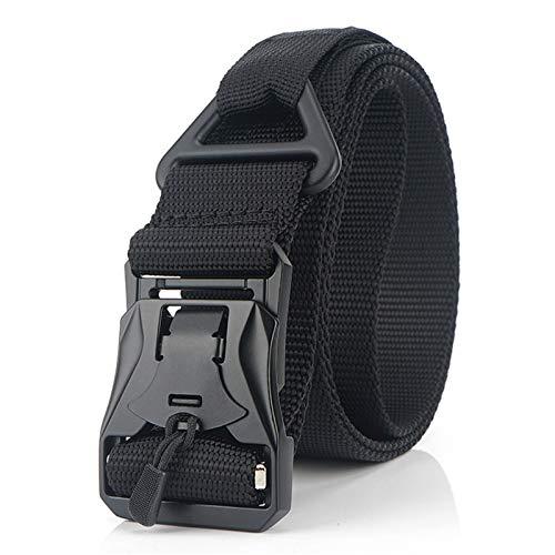 Tollmllom Cinturón Trenzado elástico Cinturón de Entrenamiento de Entrenamiento Militar Multifuncional de Nylon Cinturón de Lona magnética con Hebilla magnética Unisex Hombres Mujeres