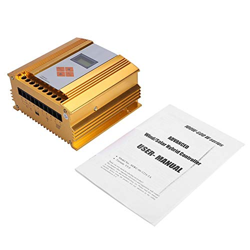 Taidda Controlador híbrido Solar eólico, 12V/24V 600W MPPT Controlador de Carga híbrido Solar eólico Regulador de Carga de Control Inteligente Digital