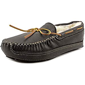 Minnetonka Men's Sheepskin-Lined Moose Slippers