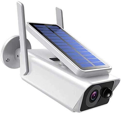 Cámara de seguridad solar recargable al aire libre con batería WiFi inalámbrica IP Cámara 1080p PIR detección de movimiento Cámara de vigilancia de audio de 2 vías con panel solar