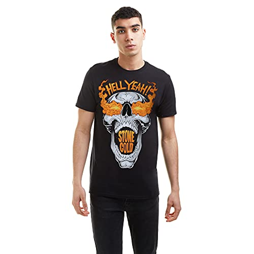 WWE Hell Yeah Camiseta, Black, Medium para Hombre