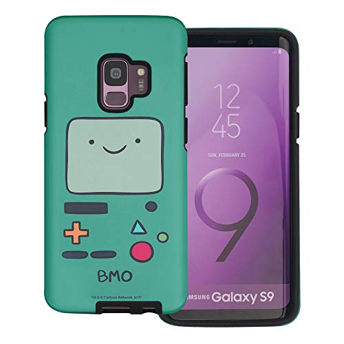 Compatible with Galaxy S9 Plus Case Adventure Time Layered Hybrid [TPU + PC] Bumper Cover - Beemo (BMO)