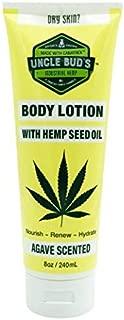 Uncle Bud's Hemp Body Lotion Moisturizer & Nourish Skin Made from Pure Hemp Seed Oil