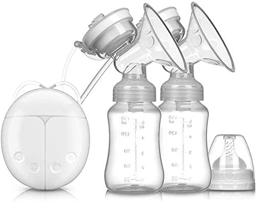 Bomba tira leite elétrica inteligente, USB BPA Free Bomba tira leite dupla de segurança Confortável e leve Bomba tira leite automática pós-parto com massageador
