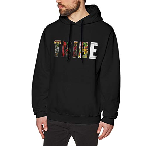 A Tribe Called Quest Men's Hoodie Sweatshirt Heavyweight Casual Long Sleeve Tshirt Black