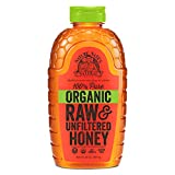 Nature Nate's 100% Pure Raw & Unfiltered Organic Honey; 32-oz. Squeeze Bottle,...