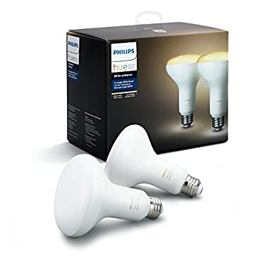 Philips Hue 2-Pack White Ambiance BR30 60W Equivalent Dimmable LED Smart Flood Light (Works with Alexa, Apple, and Google Assistant)