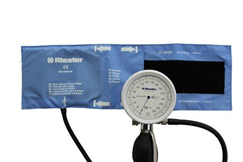 Riester 1364-129 precisa N bloeddrukmeter, schokbestendig, klittenmanchet, kinderen, 1 slang, latexvrij