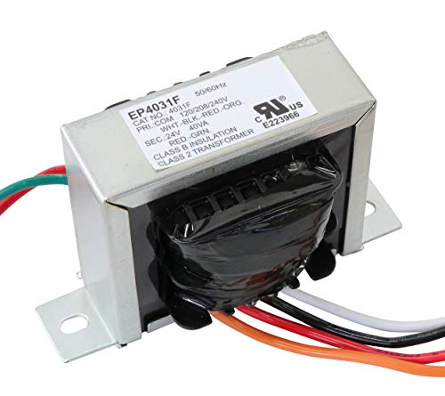Endurance Pro Control Transformer 40VA, Primary 120, 208, 240V Secondary 24V, HVAC Furnace Multi Tap, Jard 4031F, Packard 42440