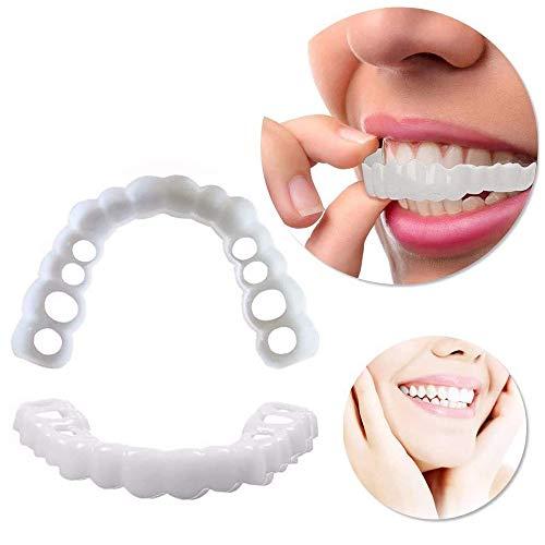 JRFWD Zahnkosmetik 1 Paar Dental-Furniere für Erwachsene, perfekter lächelnder Mundschutz, Komfort oben und unten Furnier
