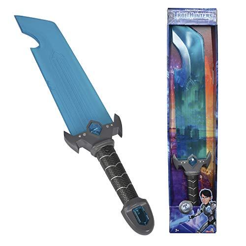 Simba 109212286 Trolljäger Schwert mit Licht und Sound / 62cm / Cooler LED Blauton