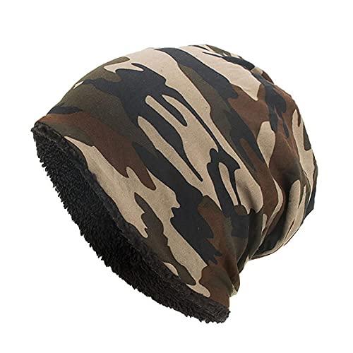 LULUZ Women Camouflage Cap Winter Baggy Comforty Crochet Hat Ski Beanie Headgear Caps Hat Soft Ladies Autumn Head Scarf Wrap Cap