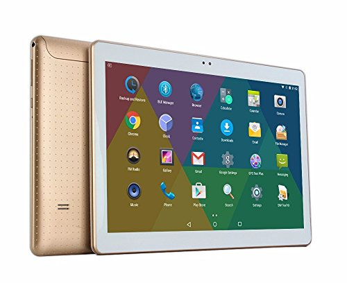 bestenme 10 Inch Tablet PC Octa Core IPS RAM 4 GB ROM 64 GB 3 G Dual SIM Card Phone Call Tablet PC Android GPS Electronics 10.6 Oro
