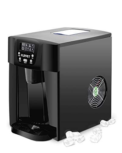 KUPPET 2 in 1 Countertop Ice Maker, Produces 36 lbs Ice in 24 Hours, Ready in 6min, LED Display (Black)