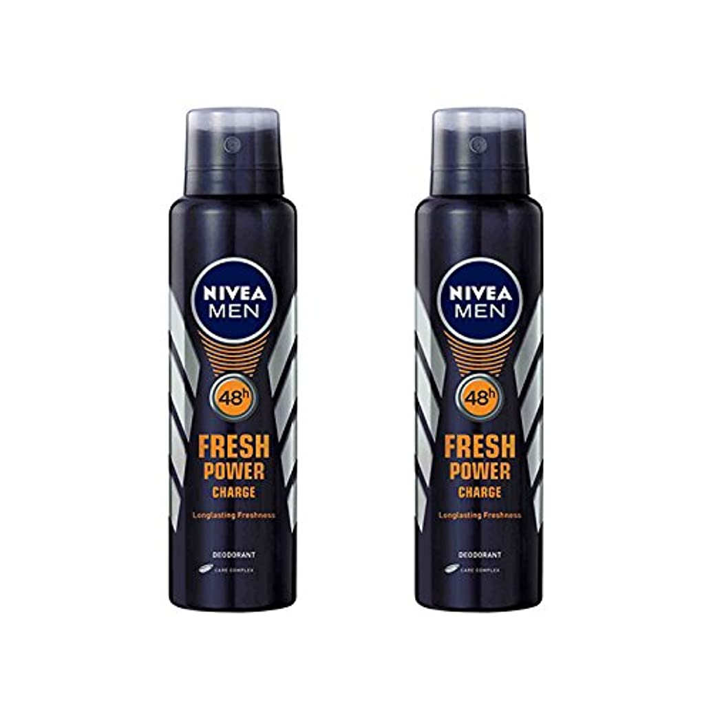 医療過誤ライン抽出2 Lots X Nivea Male Deodorant Fresh Power Charge, 150ml - 並行輸入品 - 2ロットXニベア男性デオドラントフレッシュパワーチャージ、150ml