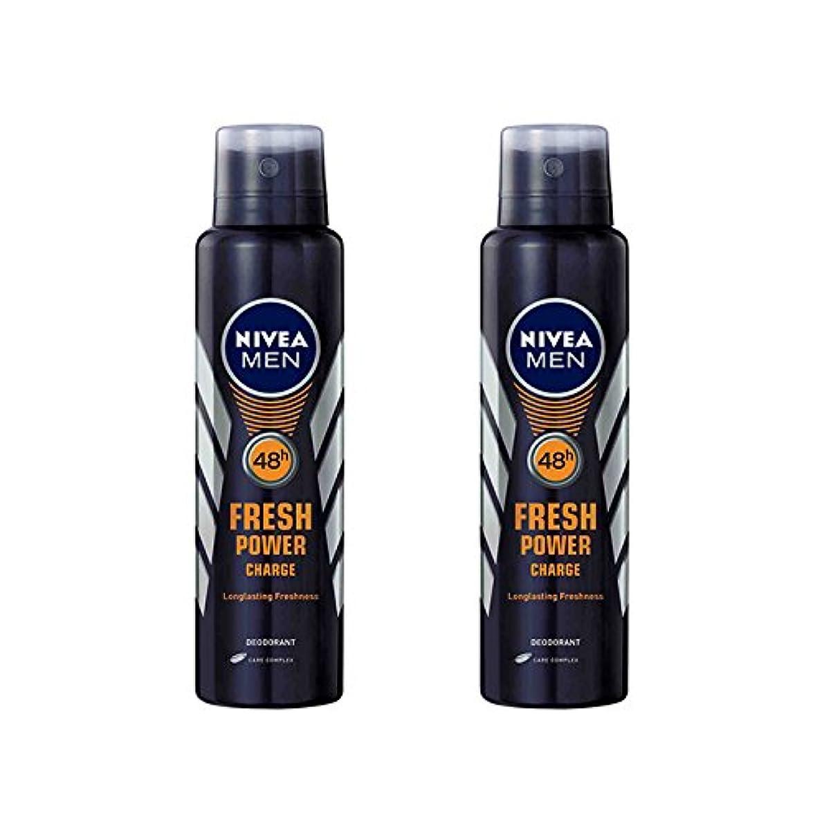 レンダリングデクリメント早熟2 Lots X Nivea Male Deodorant Fresh Power Charge, 150ml - 並行輸入品 - 2ロットXニベア男性デオドラントフレッシュパワーチャージ、150ml