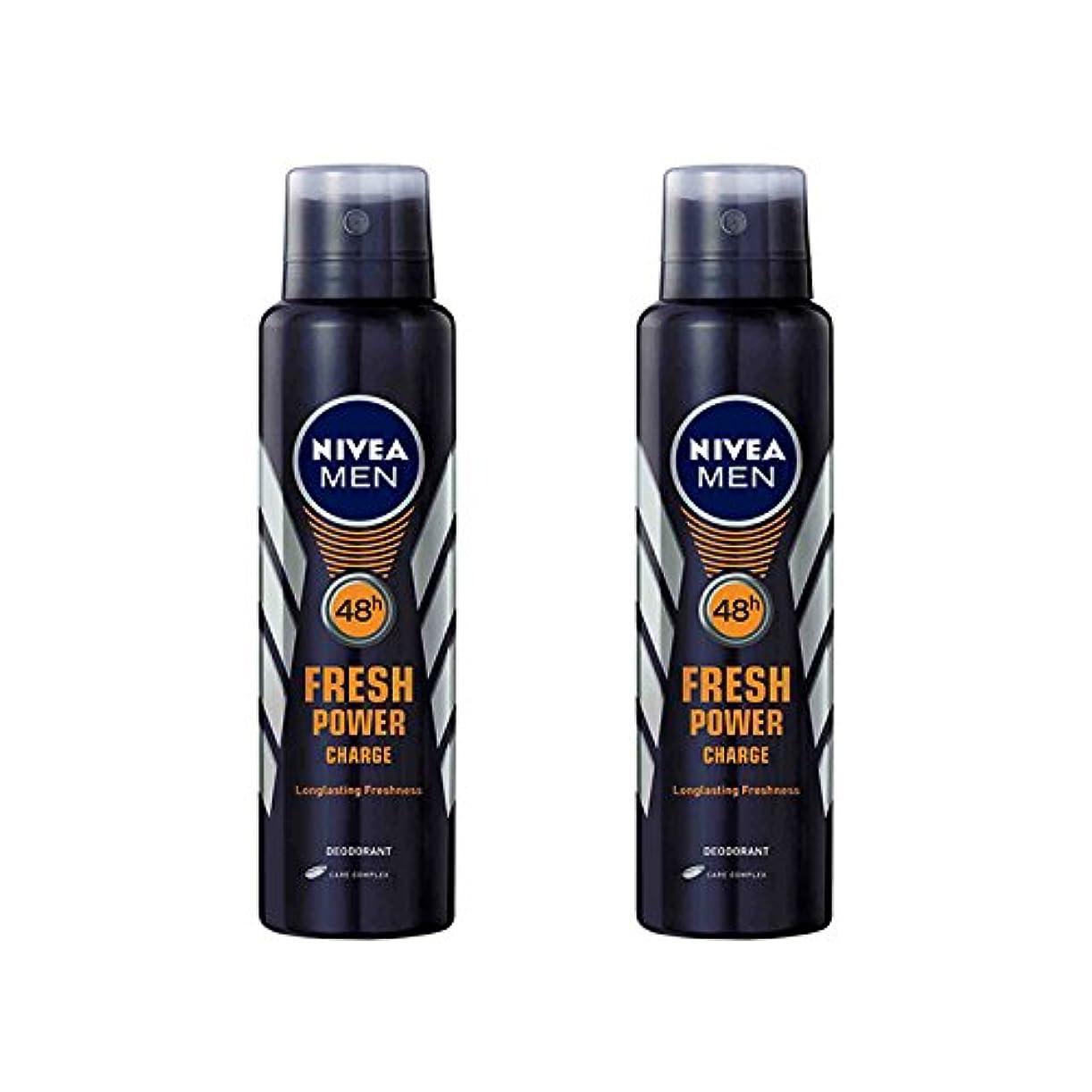 津波ドアミラー有名2 Lots X Nivea Male Deodorant Fresh Power Charge, 150ml - 並行輸入品 - 2ロットXニベア男性デオドラントフレッシュパワーチャージ、150ml