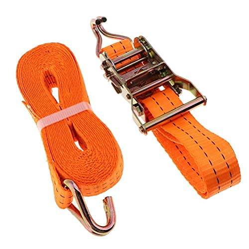 Durable Ratchet tie Down Straps 38mm x 2m, Heavy Duty Adjustable Lashing Straps with Hook, 2000kg Lashing