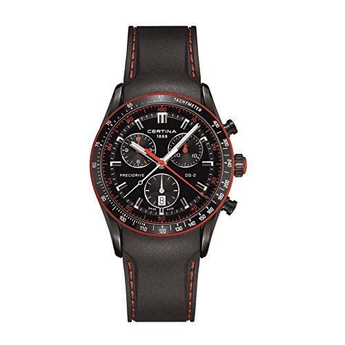 CERTINA DS-2 Herren-Armbanduhr Armband SILIKON Batterie C024.447.17.051.33