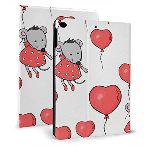 Tablet Ipad Case Cute Mouse Hold Ballons Protection Cover For Ipad For Ipad Mini 4/mini 5/2018 6th/2017 5th/air/air 2 With Auto Wake/sleep Magnetic Ipad Magnetic Case