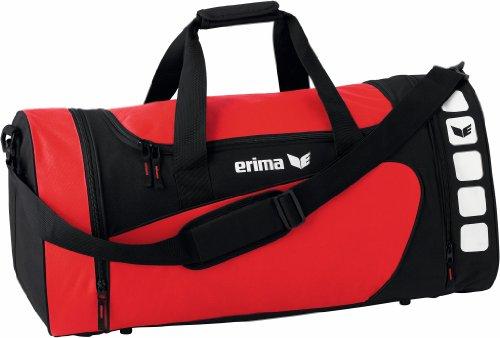 Erima Club 5 Sporttasche, Rot/schwarz, M