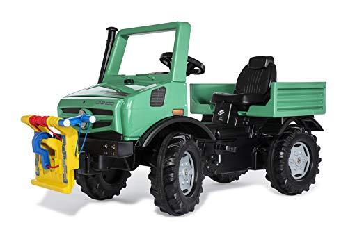 Rolly Toys 038244 rollyUnimog Forst Edition 2020 (Kinderunimog, Tretfahrzeug) - inkl. rollyPowerwinch, Sitz verstellbar, Flüsterlaufreifen