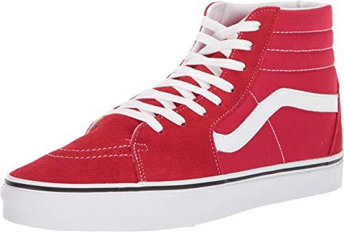 Vans Mens U SK8 HI Racing RED True White Size 4.5
