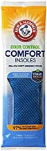 Arm & Hammer Odor Control Comfort Insoles, Pair of Pillow Soft Memory Foam Insoles for Men & Women (1 Pack)