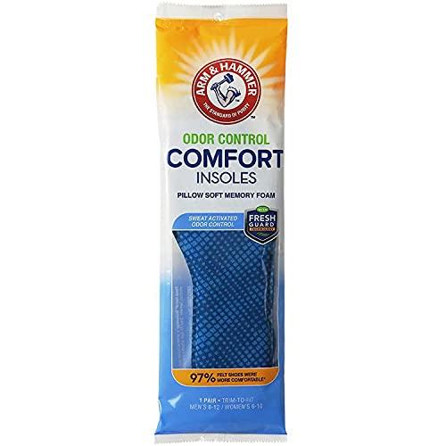 Arm & Hammer Plantillas de control de olores con espuma viscoelástica suave (1)
