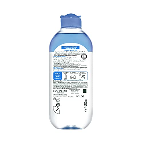 Garnier Micellar Cleansing Water Delicate Skin and Eyes, Biphase Face and...