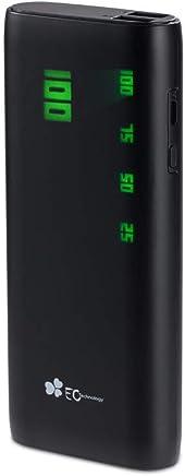 美国EC Technology 15000毫安充电宝电数显女生便携款潮款充电宝可带上飞机 2.4A快速充电 双USB输出移动电源