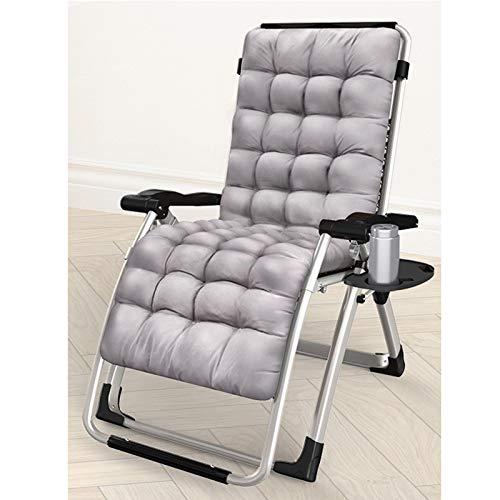 JMSL Sillón de jardín Lounge-Sillones reclinables de Gravedad Cero Ajustables con Almohadas y bandejas portavasos-Soporte portátil Plegable 200Kg,Enhanced Version+a Pad,170°