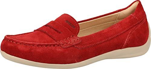 Geox D0255B 00022 Damen Slipper Rot, EU 38