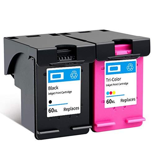 Cartucho de tinta 60XL, reemplazo de alto rendimiento para HP Photosmart C4680 C4795 DeskJet F4580 F4480 F4280 ENVÍA 110 100 120 Cartuchos de tinta negros y tri-colo