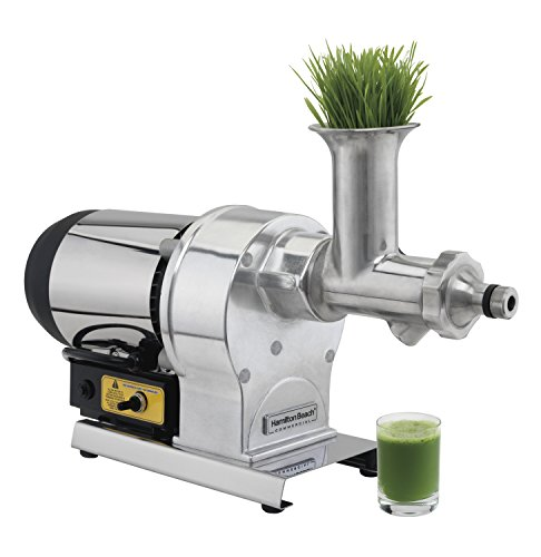 """Hamilton Beach Commercial HWG800 Wheatgrass Juicer, 12"""" Height, 23.03"""" Width, 7.09"""" Length, Stainless Steel"""