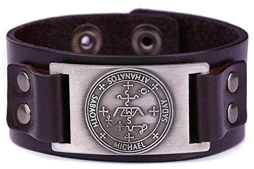 VASSAGO Pulsera de metal con diseño de claves de Salomón, símbolo del arcángel Michael