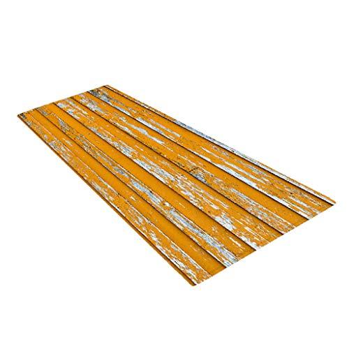 Amuzocity Alfombrilla antideslizante para baño, dormitorio, suelo, ducha, 10 estilos, impermeable, color amarillo, 40 x 120 cm